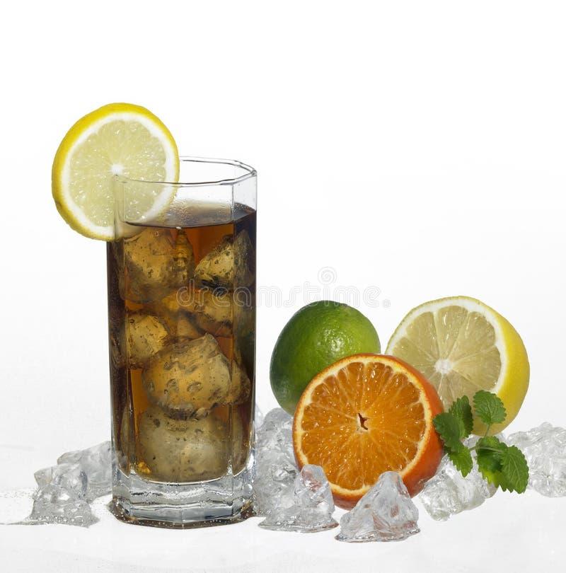 被冰的茶点饮料 免版税库存图片