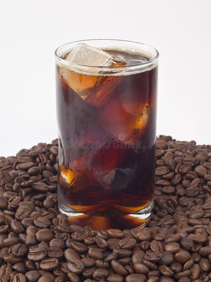 被冰的豆咖啡 库存照片
