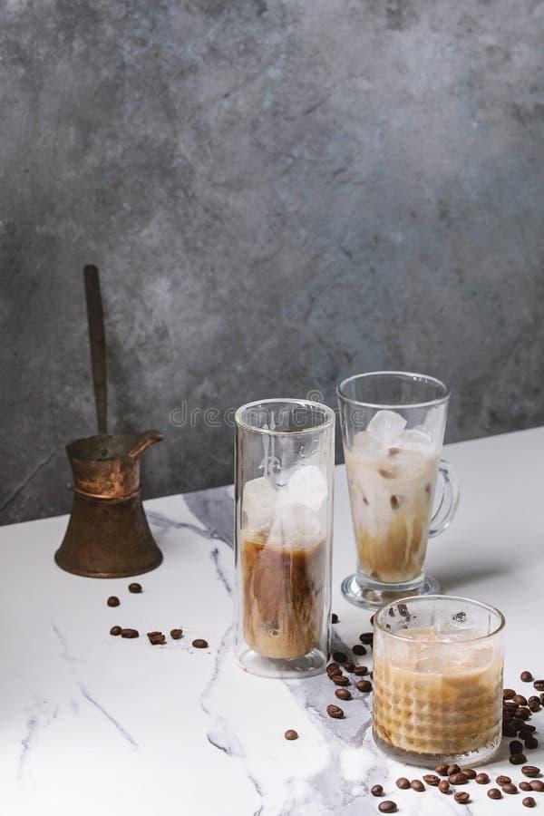 被冰的鸡尾酒咖啡 图库摄影