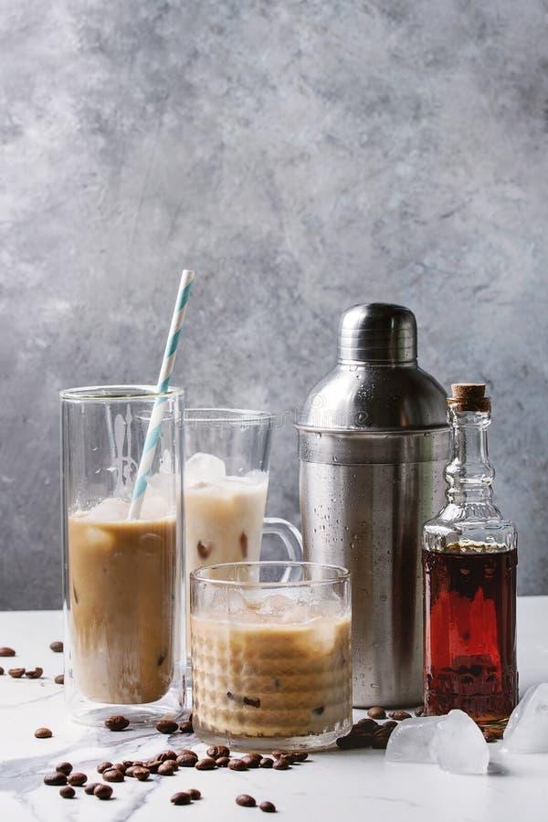 被冰的鸡尾酒咖啡 免版税库存照片