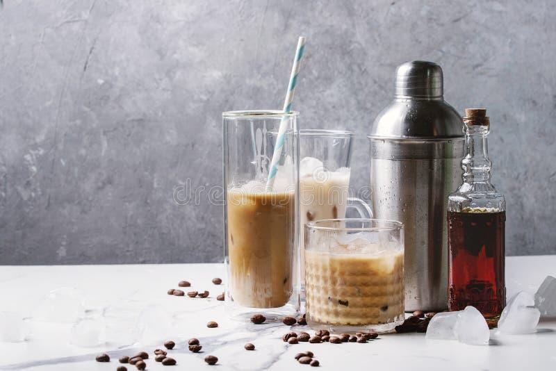 被冰的鸡尾酒咖啡 库存照片
