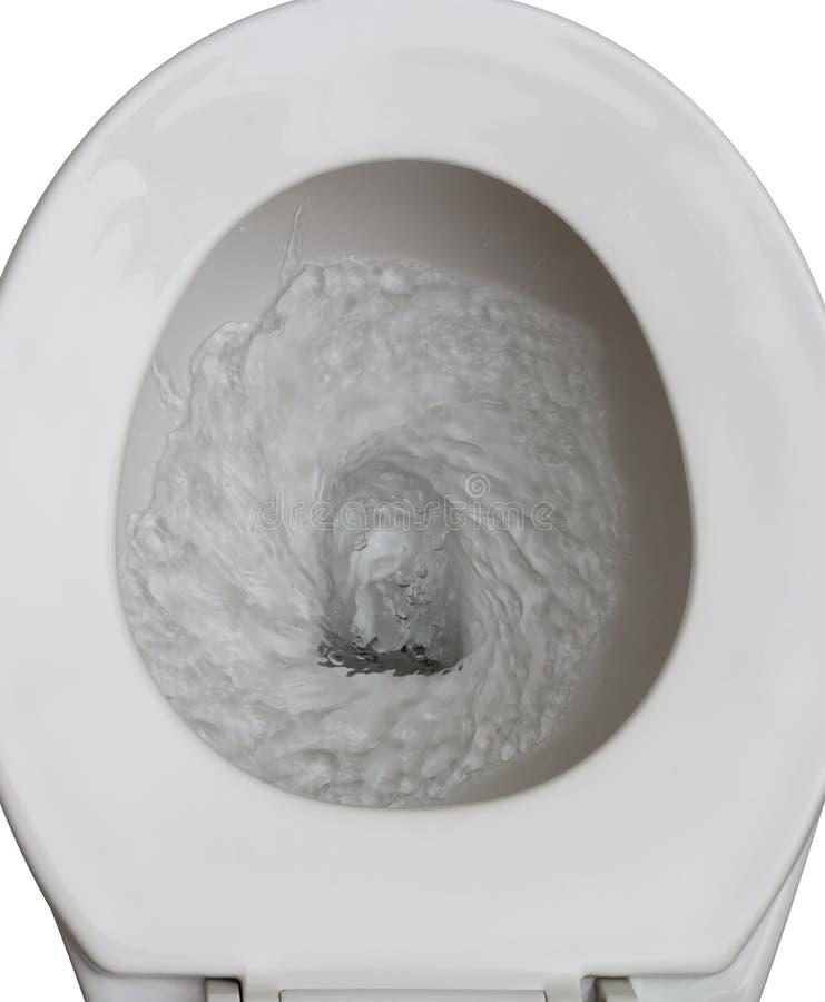 被冲洗的洗手间 库存图片