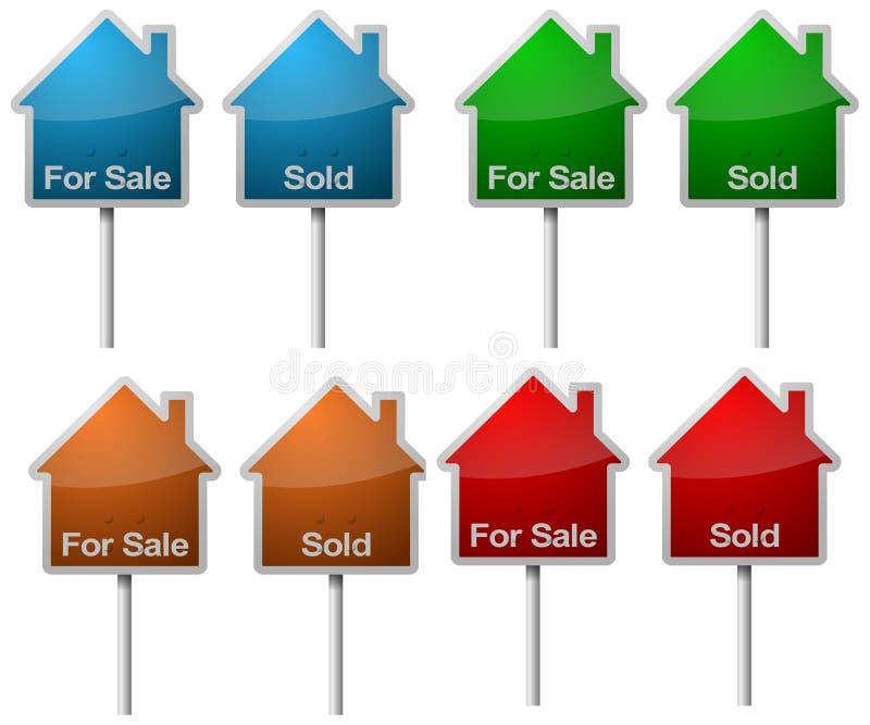 被出售的销售额符号 库存例证
