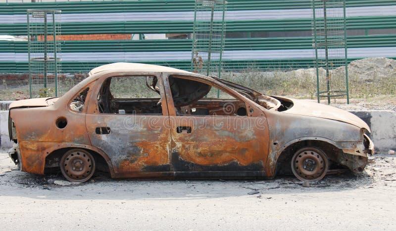 被击毁的被放弃的被烧的加州 免版税图库摄影