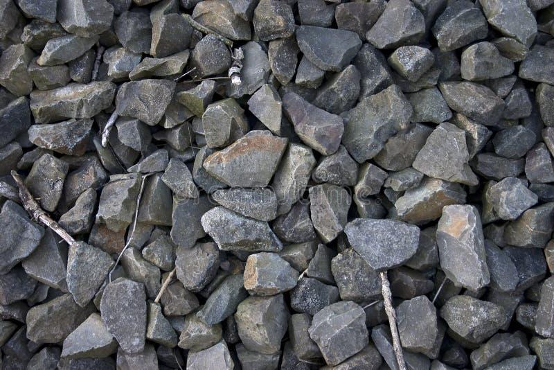 被击碎的石头 免版税库存图片