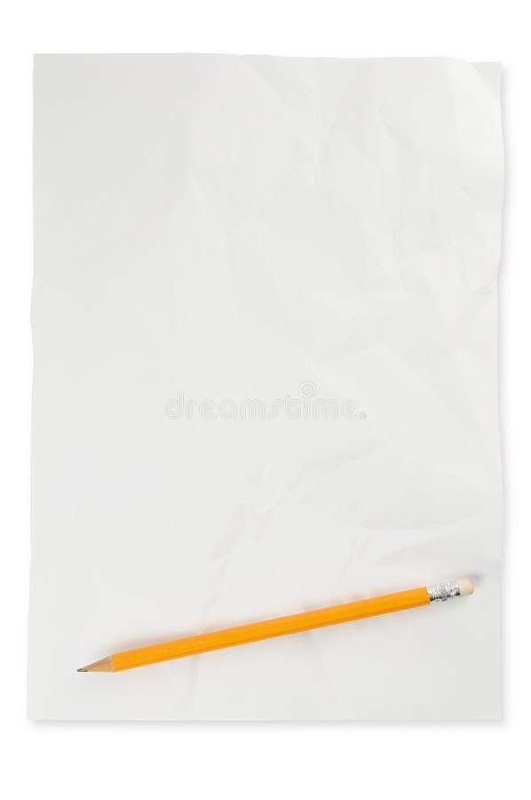 被击碎的纸铅笔 库存图片