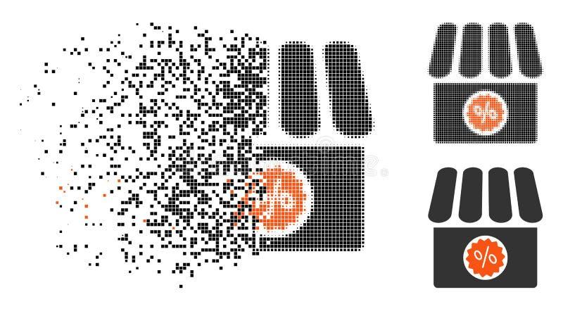 被分割的Pixelated半音药房销售象 库存例证