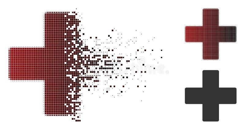 被分散的小点中间影调加上象 向量例证
