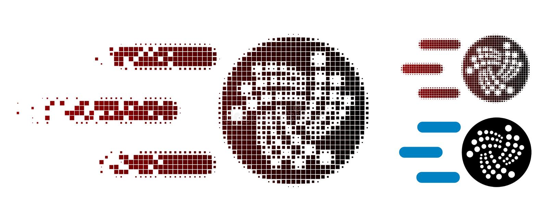 被分散的小点中间影调送Iota象 皇族释放例证