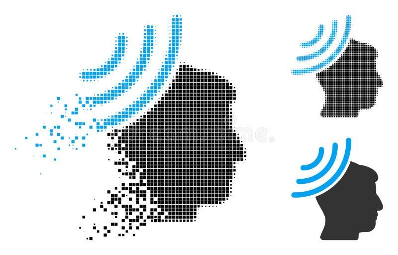 被分散的小点半音无线电招待会头脑象 向量例证