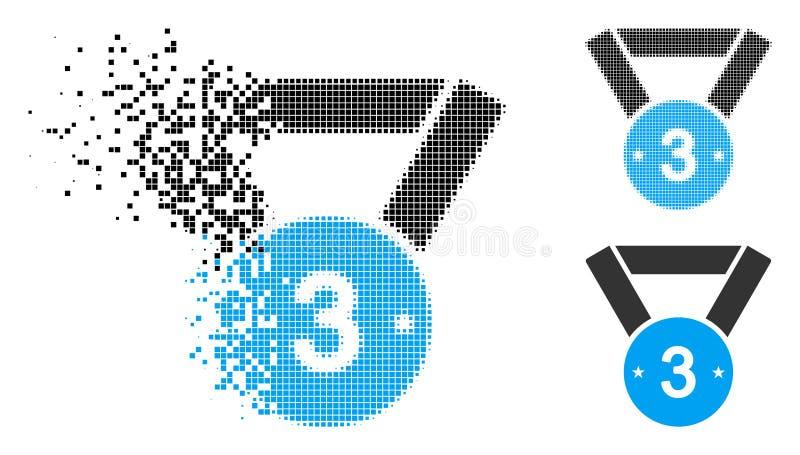 被分散的映象点中间影调第三个奖牌象 库存例证