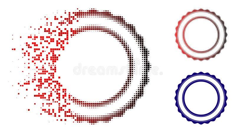 被分散的映象点半音双重玫瑰华饰圆框架象 向量例证