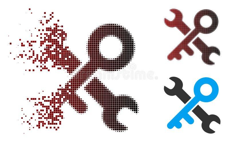 被分散的映象点半音钥匙用工具加工象 库存例证