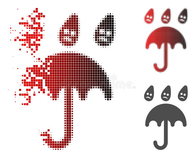 被分散的被加点的半音哀伤的雨伞象 皇族释放例证