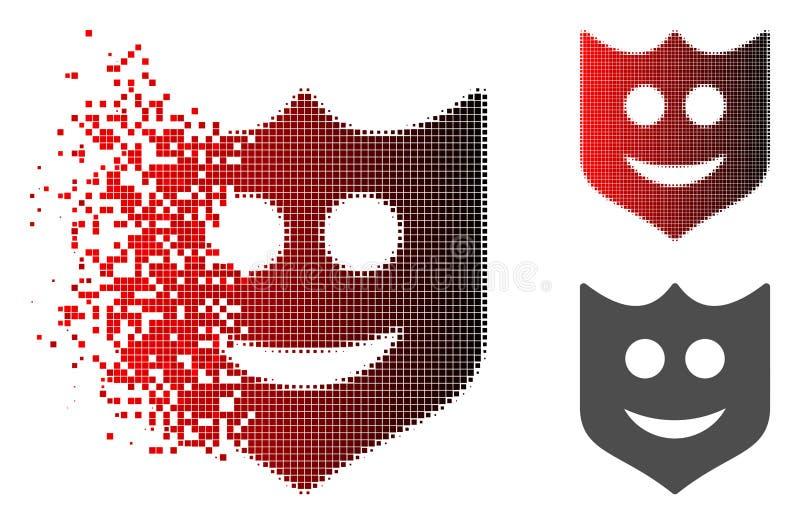 被分散的被加点的半音微笑盾象 库存例证