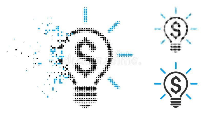被分散的被加点的半音电灯价格象 库存例证