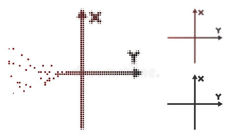 被分散的被加点的半音解析的轴象 向量例证