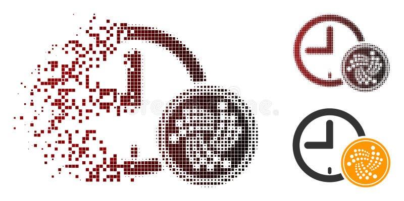 被分散的被加点的半音Iota硬币时间象 皇族释放例证
