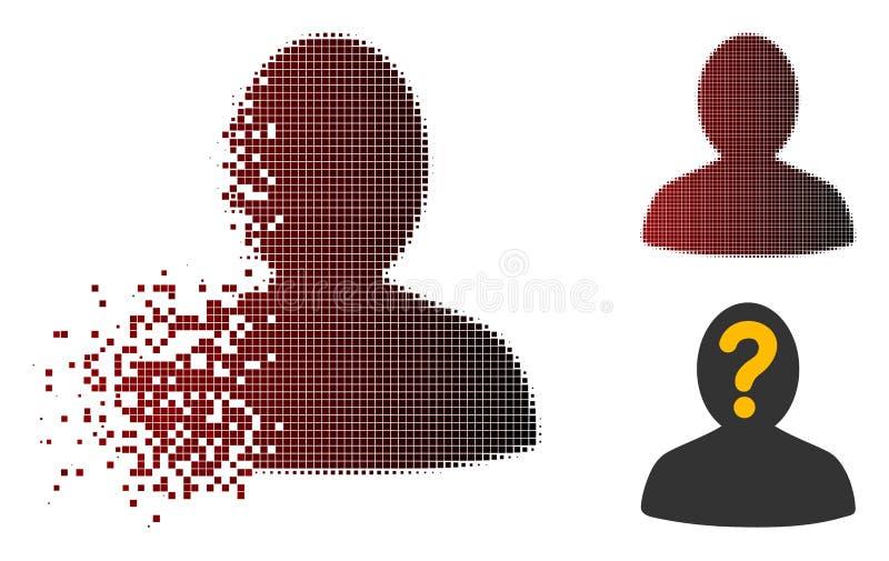 被分散的Pixelated半音匿名人象 皇族释放例证