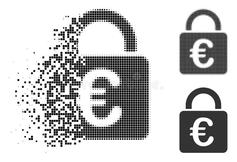 被分散的Pixelated半音欧洲锁象 皇族释放例证
