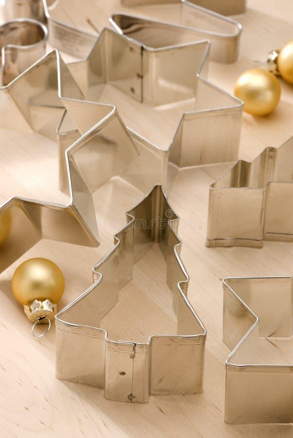 被分类的圣诞节曲奇饼切割工 库存照片