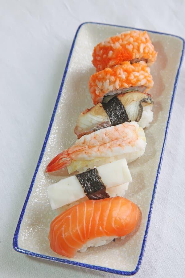 被分类的寿司 免版税图库摄影