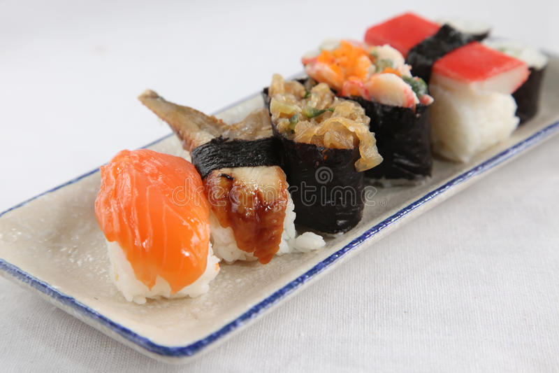 被分类的寿司 图库摄影