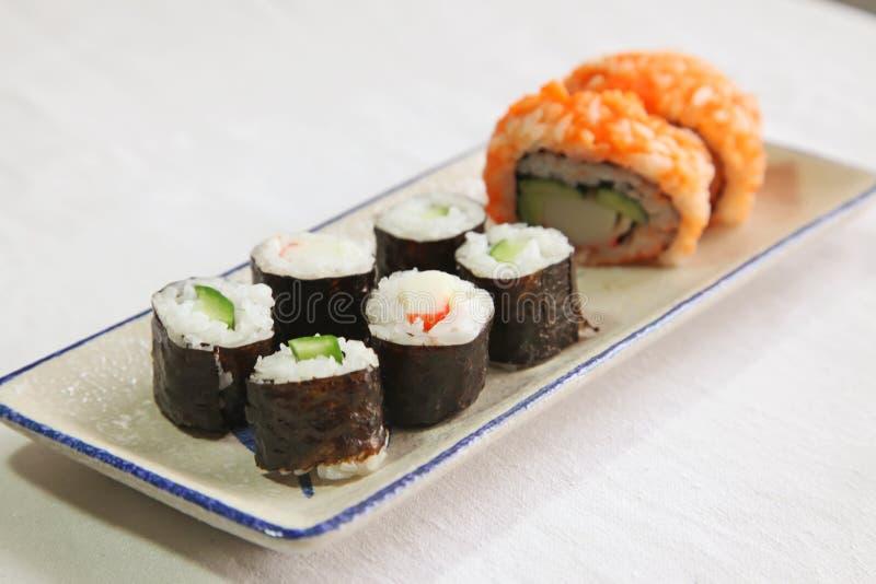 被分类的寿司 免版税库存照片