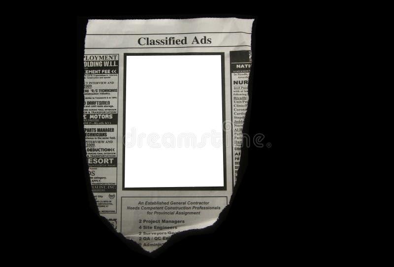 被分类的广告 库存照片