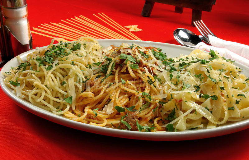 被分类的意大利面食 库存图片