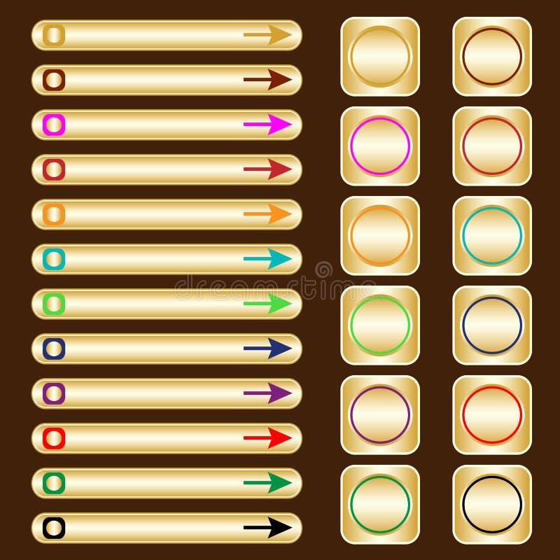 被分类的按钮色素金子万维网 皇族释放例证