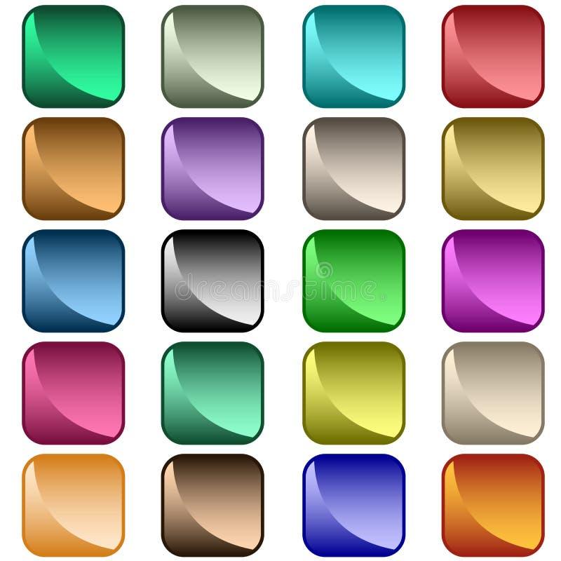 被分类的按钮颜色万维网 向量例证