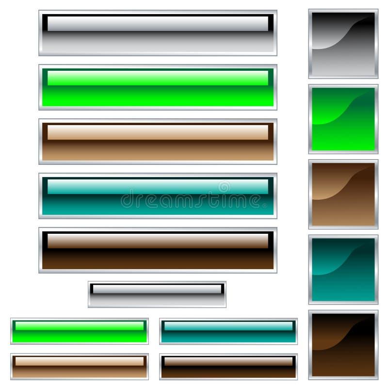 被分类的按钮颜色光滑的万维网 库存例证