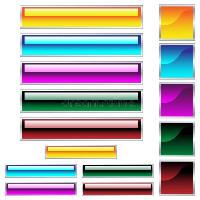 被分类的按钮颜色光滑的万维网 皇族释放例证