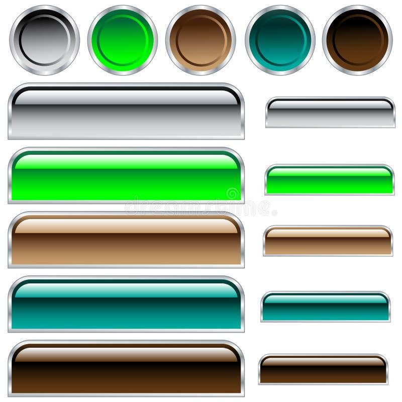 被分类的按钮颜色光滑的形状万维网 向量例证