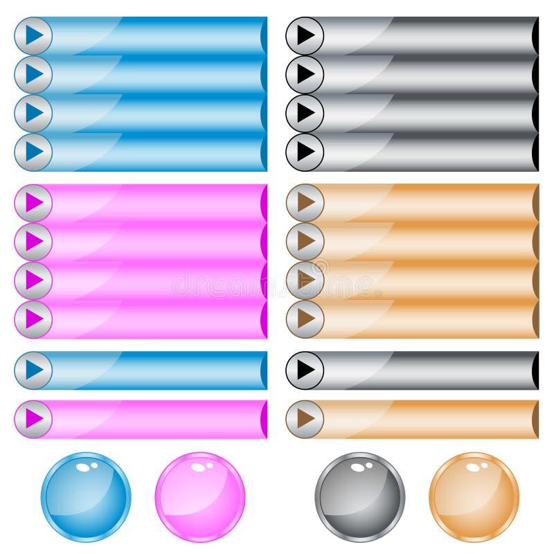 被分类的按钮颜色形状万维网 向量例证