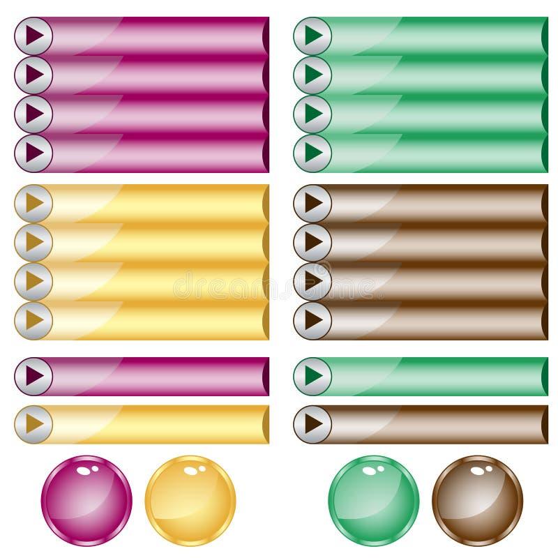 被分类的按钮颜色形状万维网 皇族释放例证