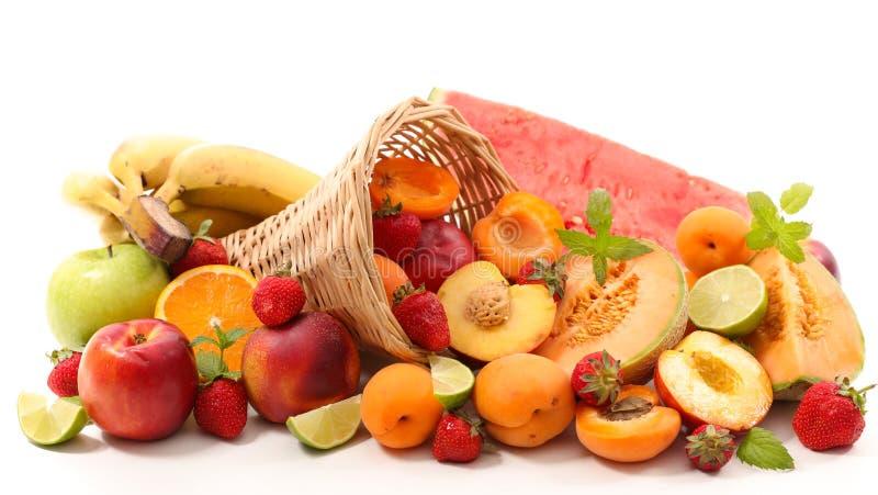 被分类的新鲜水果 免版税库存图片