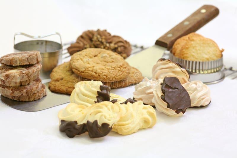 被分类的曲奇饼 免版税库存照片