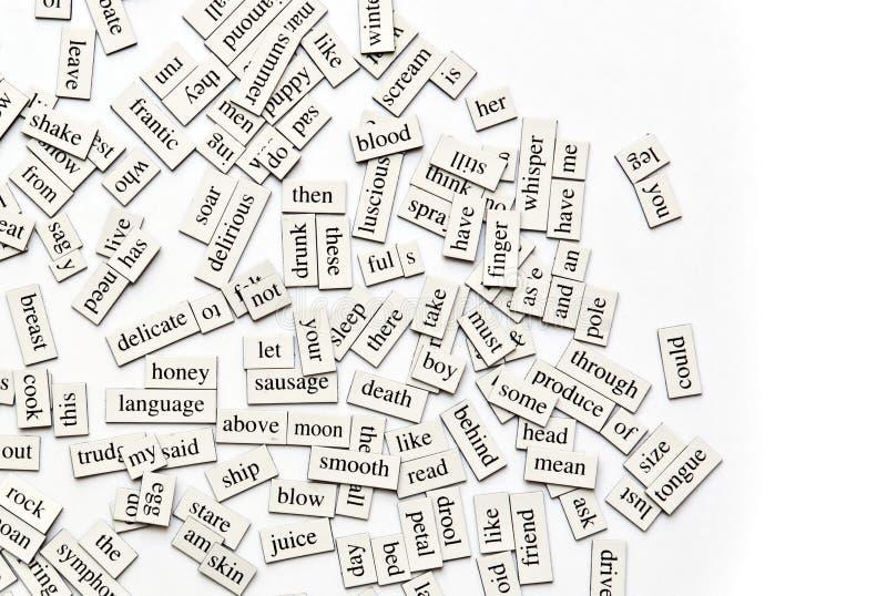 被分类的磁性字 免版税库存图片