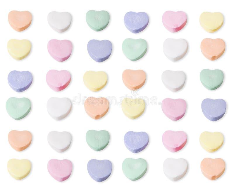 被分类的空白糖果上色重点 免版税库存图片