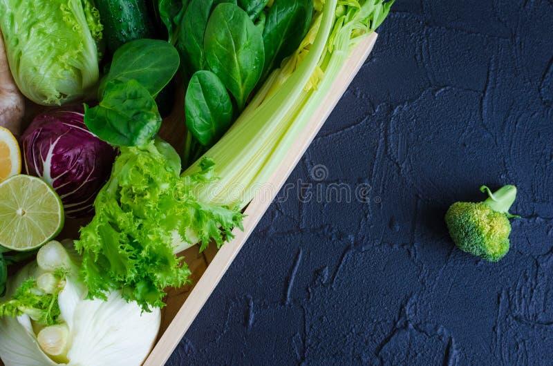 被分类的绿色菜 免版税库存照片
