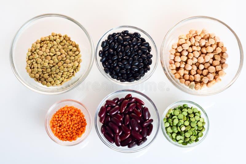 被分类的豆豆类 免版税图库摄影