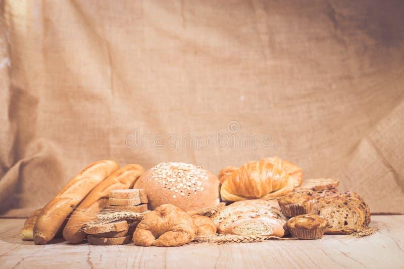 被分类的面包和酥皮点心 库存照片