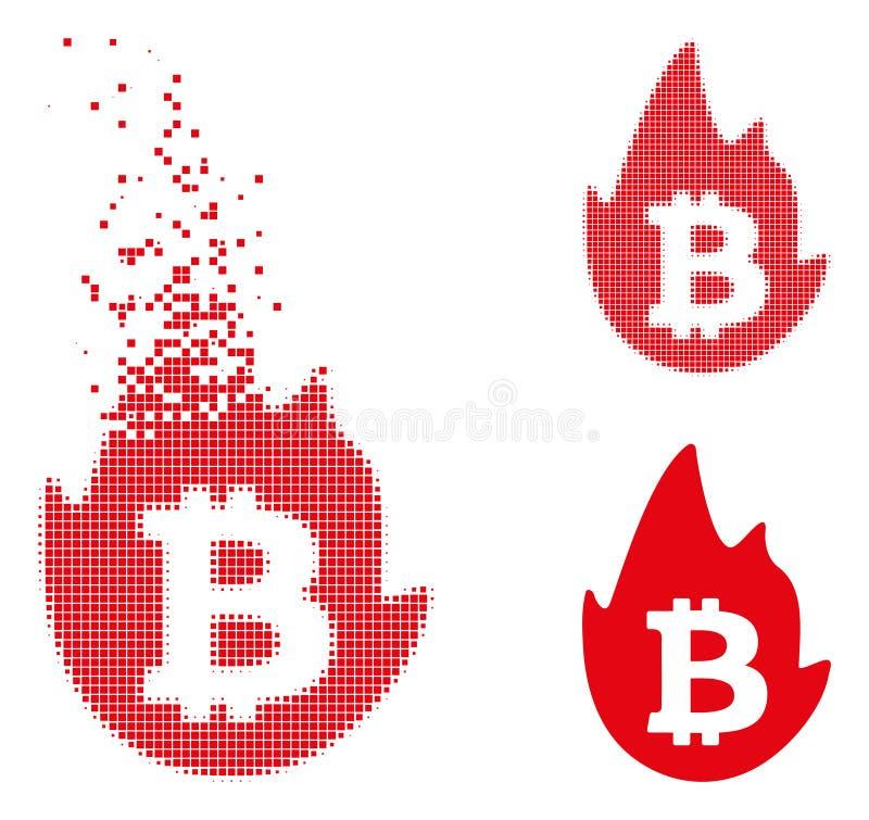 被分解的小点半音热的Bitcoin象 皇族释放例证