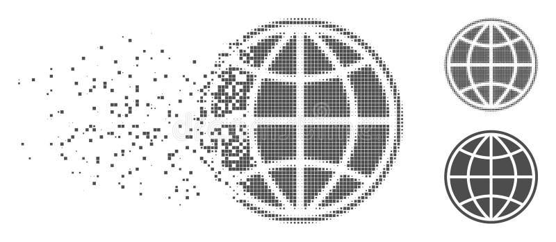 被分解的映象点半音世界象 向量例证