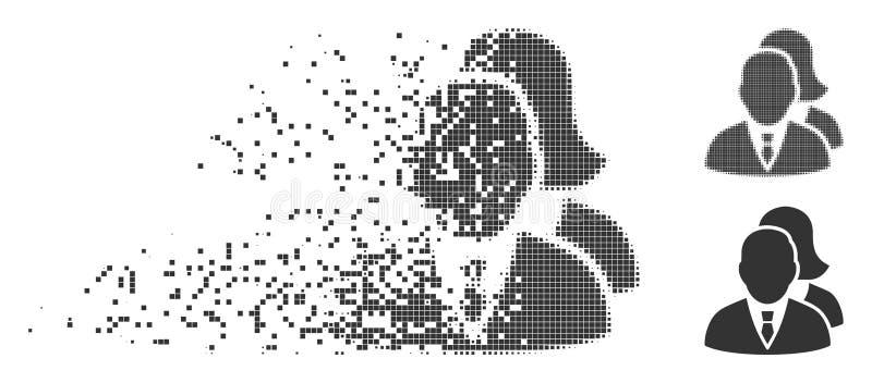 被分解的映象点半音人象 库存例证