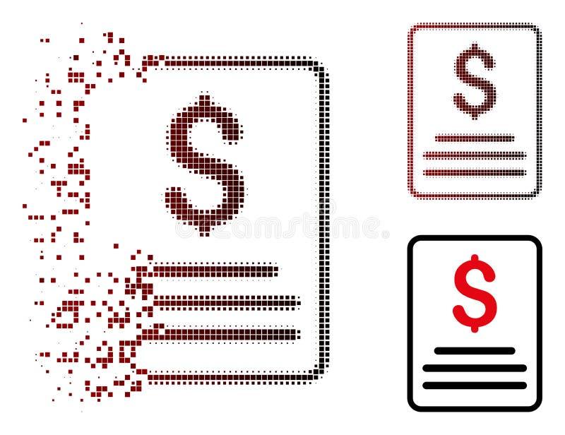 被分解的映象点半音发货票预算象 向量例证
