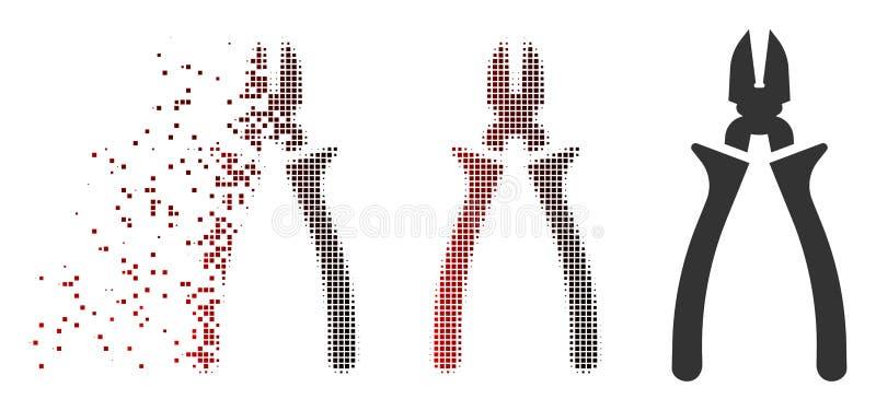 被分解的映象点半音少年象 库存例证