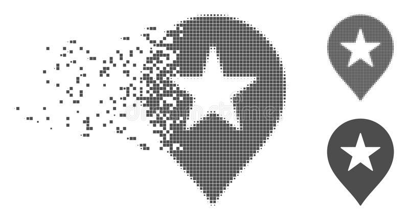 被分解的映象点半音星喜爱标志象 向量例证